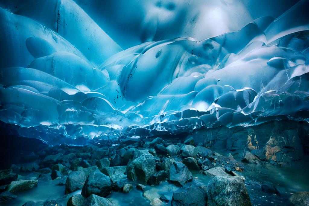 Mendenhall Glacier Caves Alaska natural wonders in america