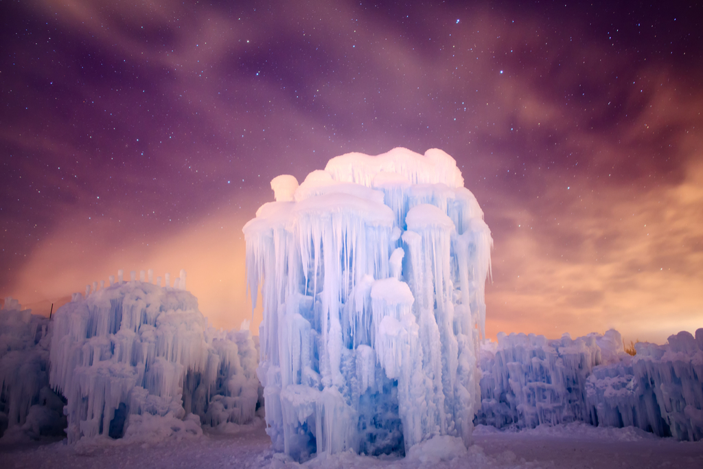 Midway Ice Castles Utah Magical Destinations