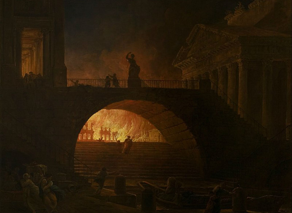 Nero while Rome burns history lessons