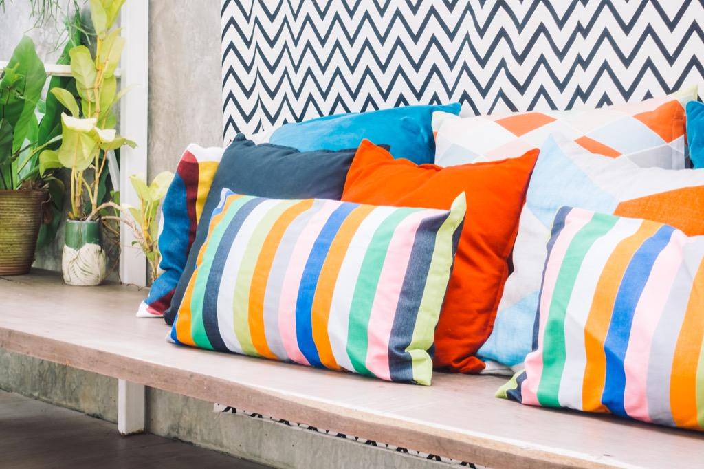 pillows outdoor seating