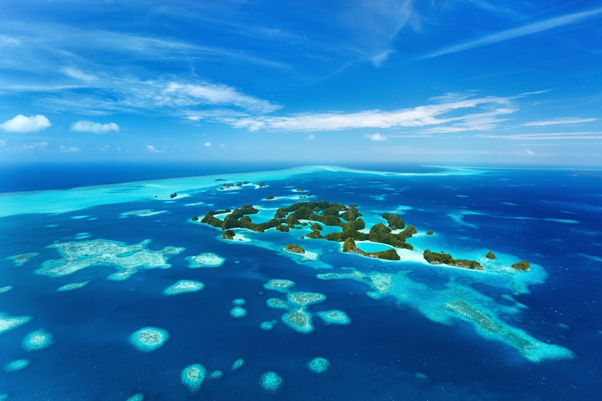 Palau Islands in the Pacific Ocean