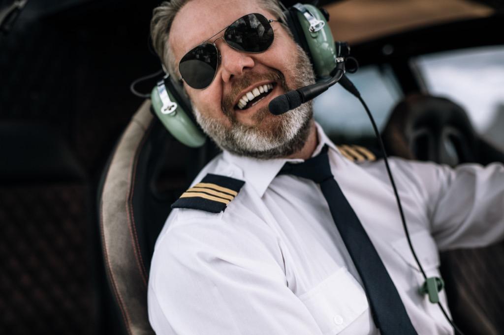 pilot laughing