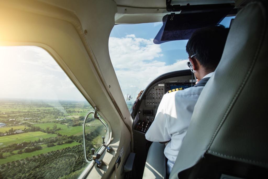 pilot gazing