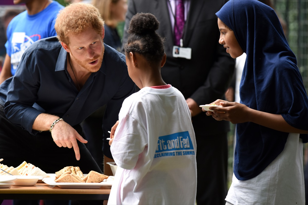 prince harry with children, prince harry father