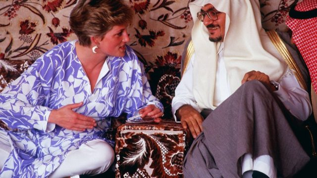 Princess Diana with the Sultan of Oman