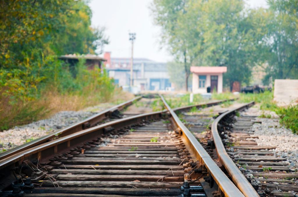 Railroad Tracks Kiss
