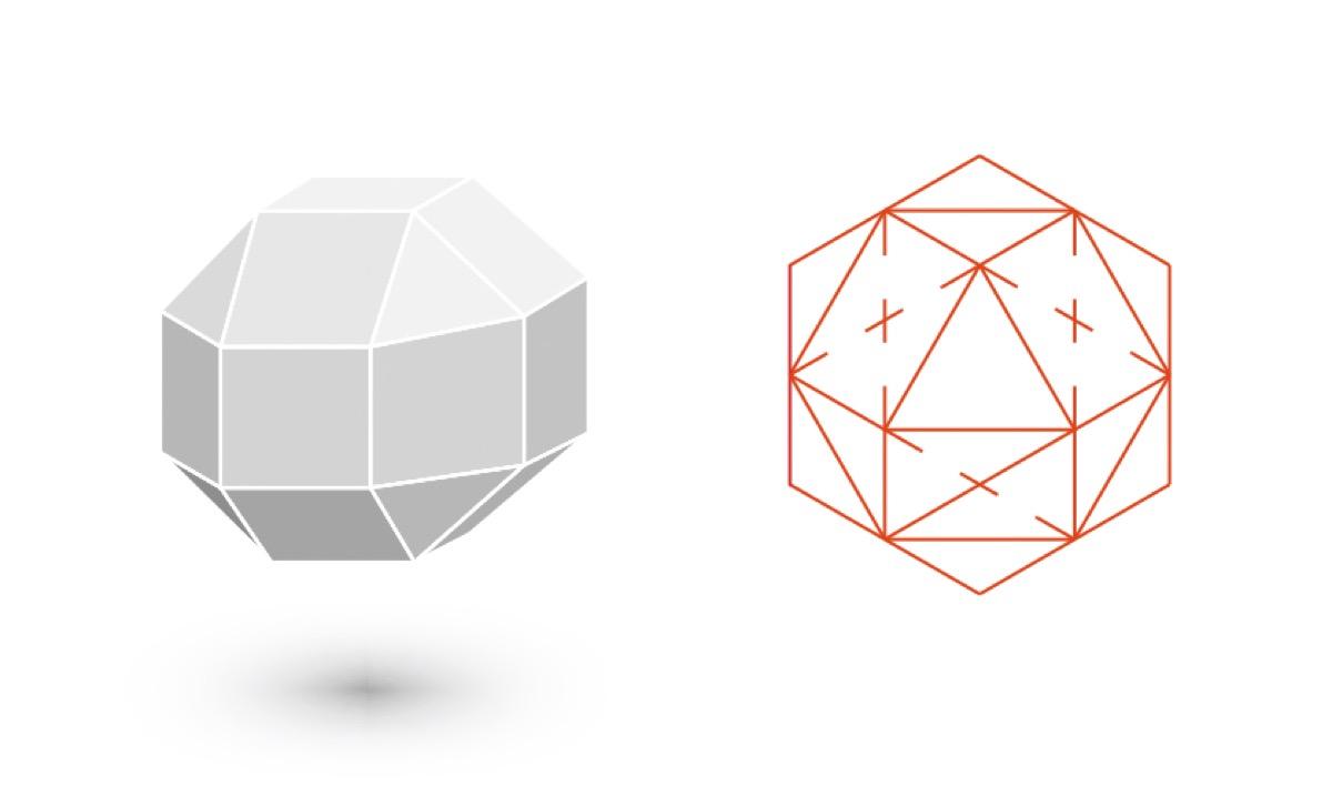 rhombicuboctahedron shape, astonishing facts