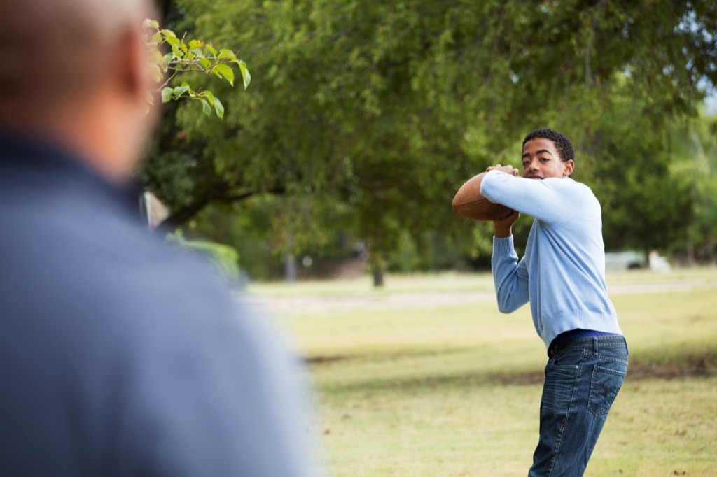 father and son playing catch, top slang words in every state
