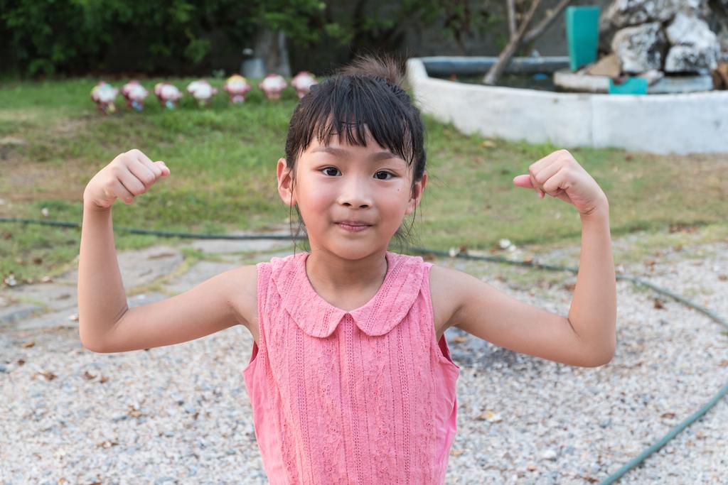 strong little girl