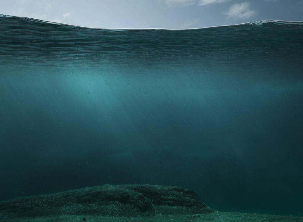 Ocean surface and floor