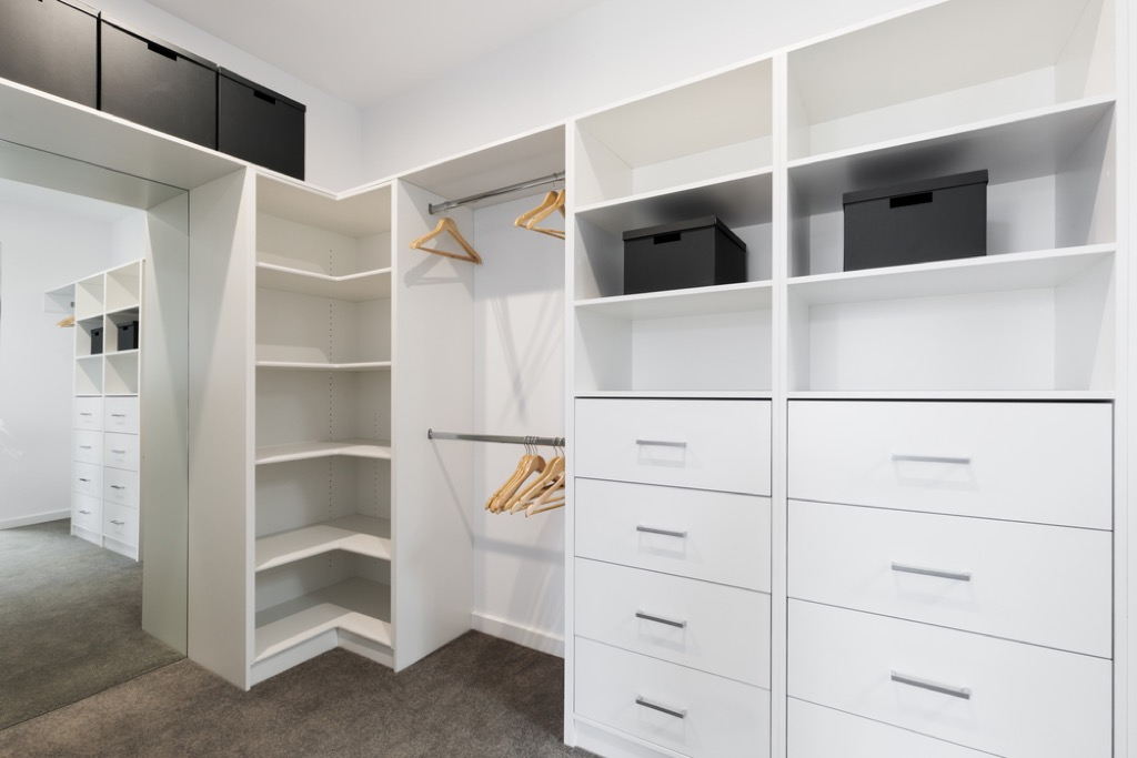 double closet storage hacks