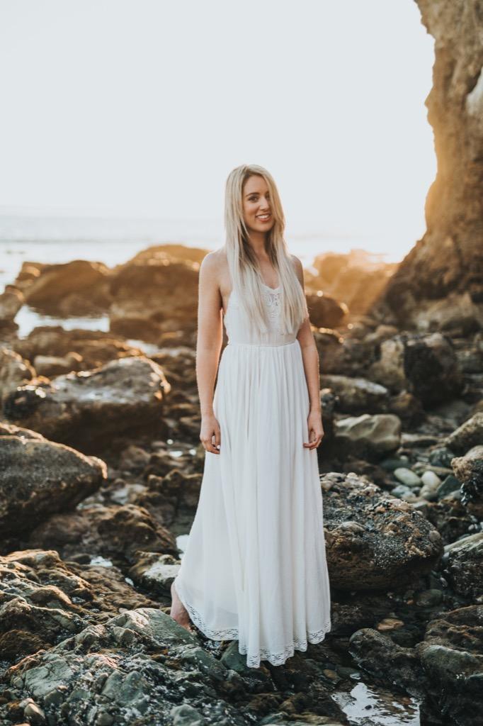 white dress for a wedding