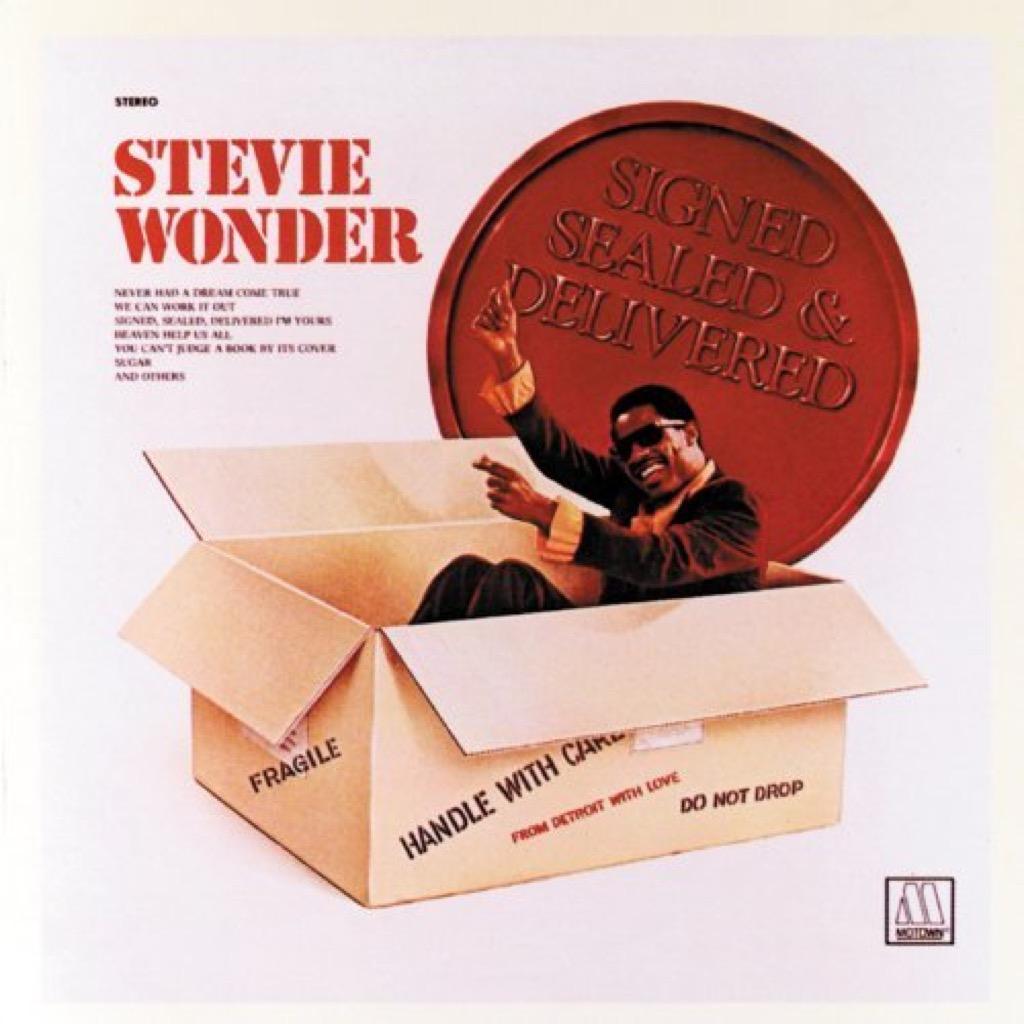 """Stevie Wonder """"Signed Sealed & Delivered"""" Cover"""