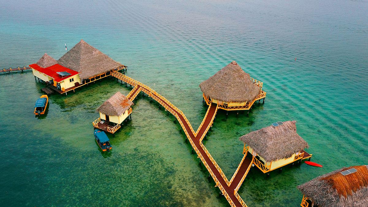 punta caracol floating hotel