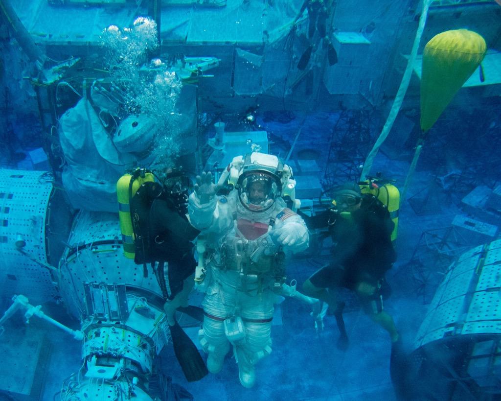 astronaut underwater