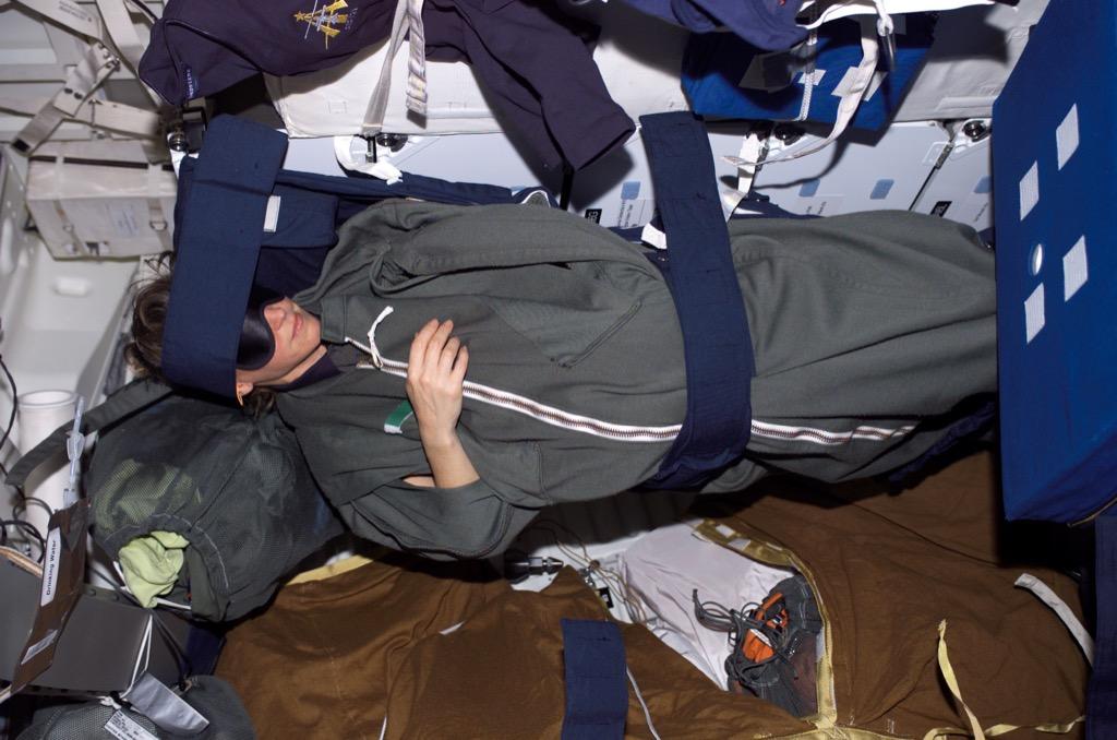 astronaut tied down