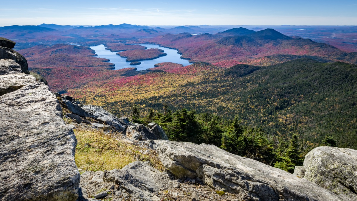 view of the adirondacks from the peak of whiteface mountain