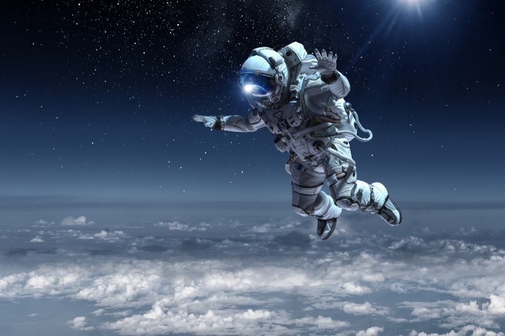 astronaut floating in space 27 Insane Things Astronauts Have to Do
