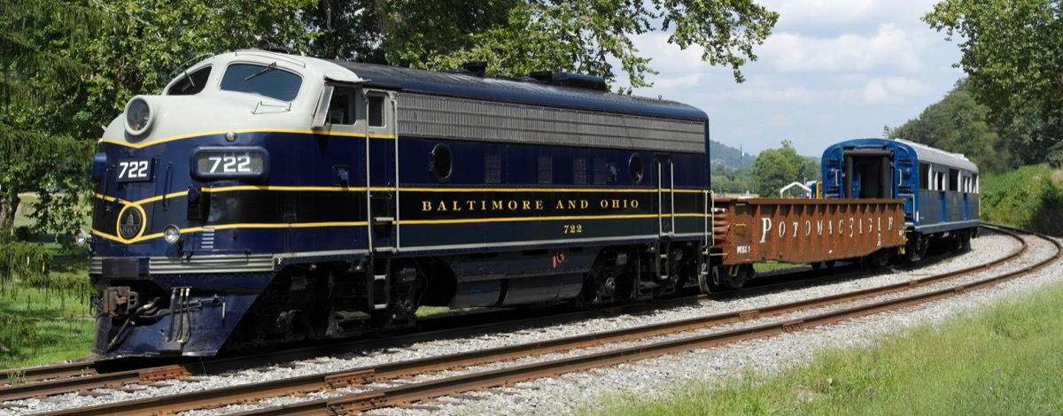 baltimore & ohio B&O railroad train