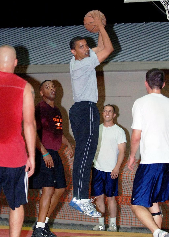 barack obama basketball game 2006