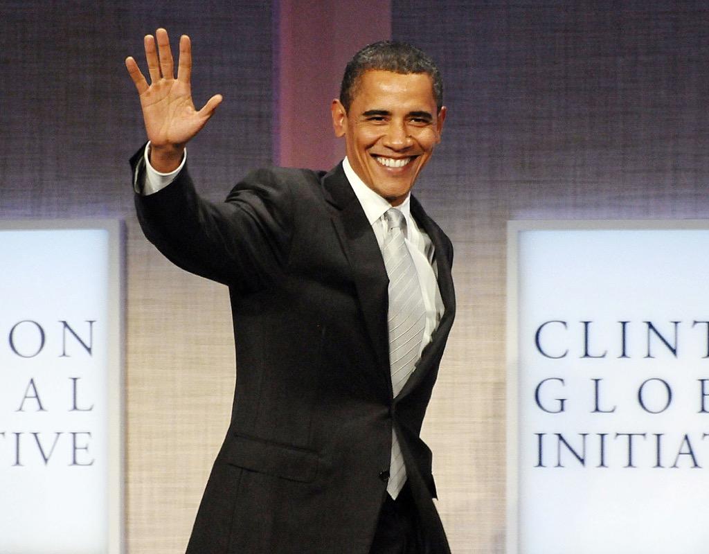 Barack Obama gray suit