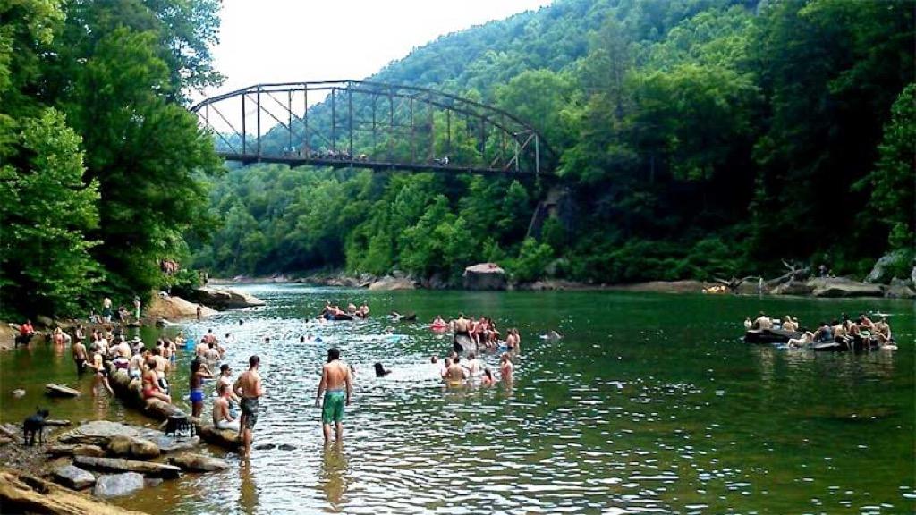 people swim in a river in west virginia