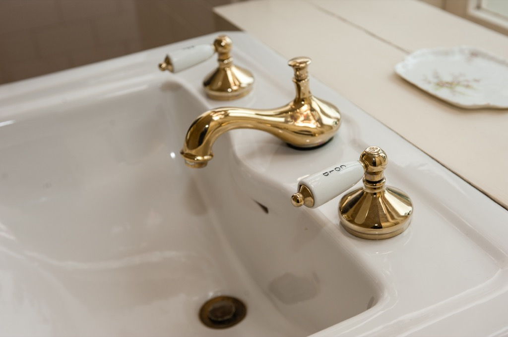 brass fixture outdated home design