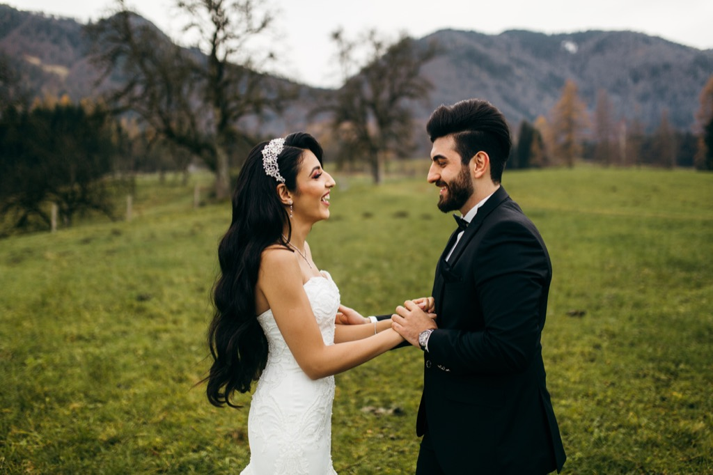 bride and groom mountain wedding This Is the Age Most People Get Married in Every U.S. State