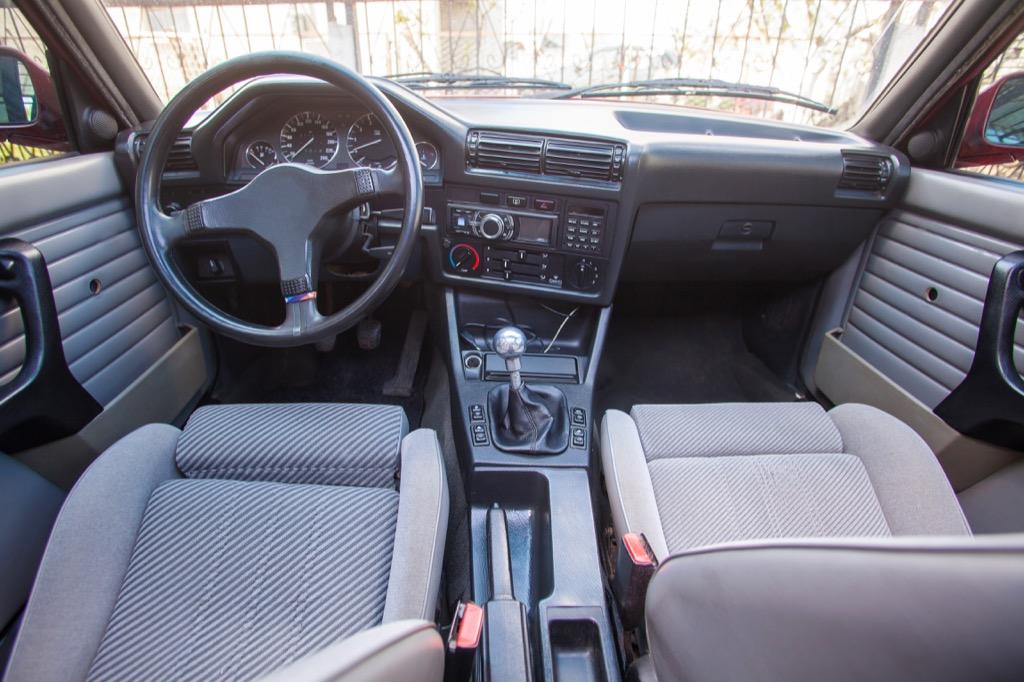 Inside of a car.