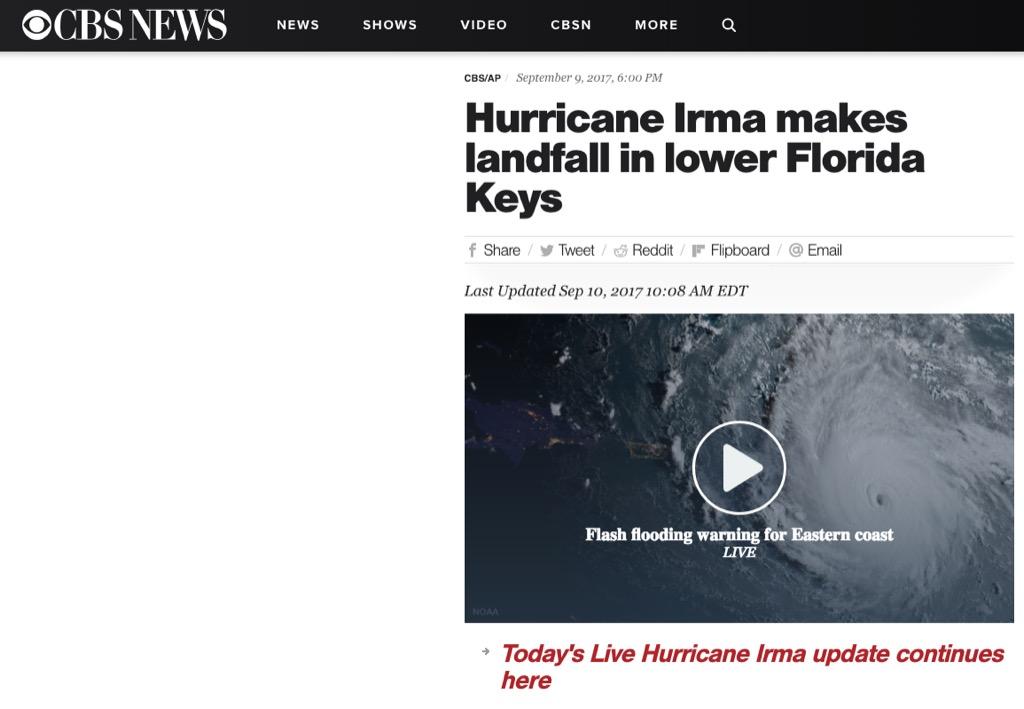 cbs news hurricane irma most popular web search every state