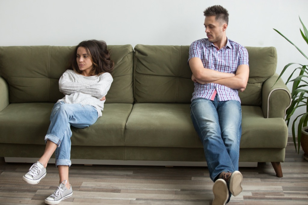 Couple is fighting things you should never say in an argument with your spouse