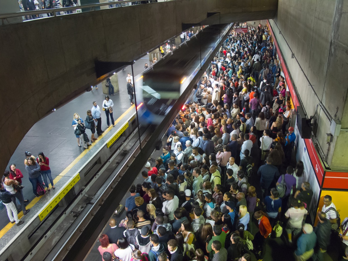 Crowded Subway station Overpopulation
