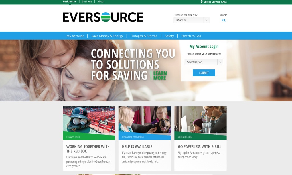 eversource website most popular web search every state