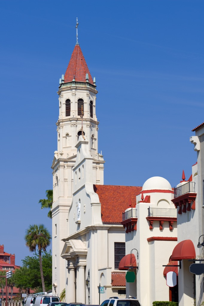 florida cathedral st. augustine most historic location every state