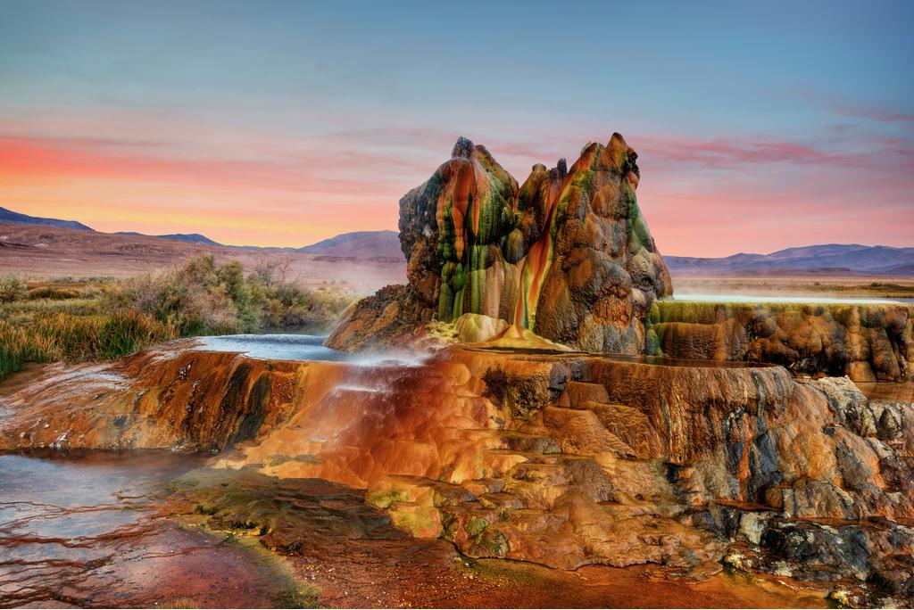 Fly Geyser Nevada Enchanting Hideaways in the U.S.