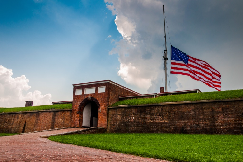 fort mchenry most historic location every state