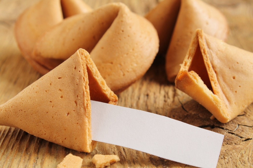 Fortune cookies, fortune cookie