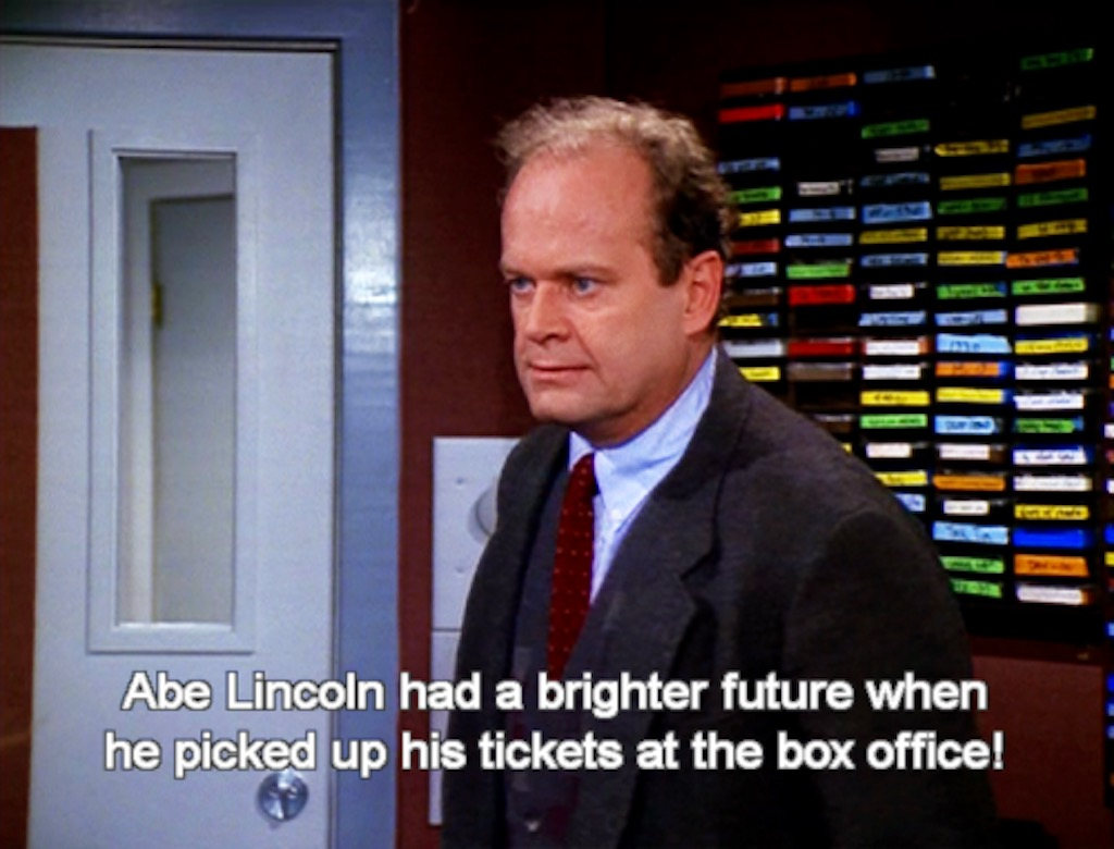 abe lincoln had a brighter future when he picked up his tickets at the box office