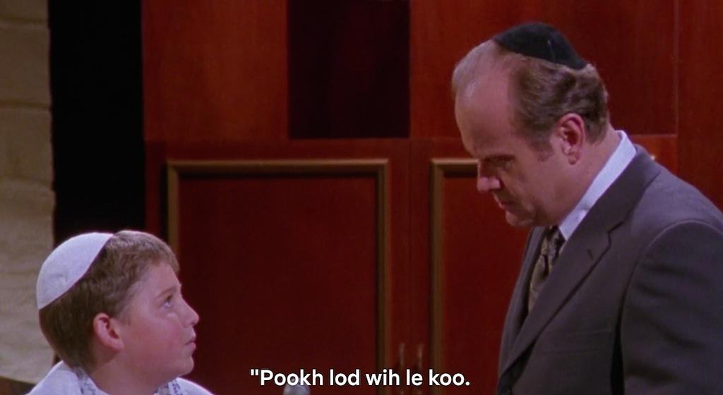 frasier speaks klingon in star mitzvah