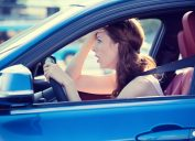 Woman in Traffic