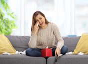 Girl Crying in Front of Television Sensitive