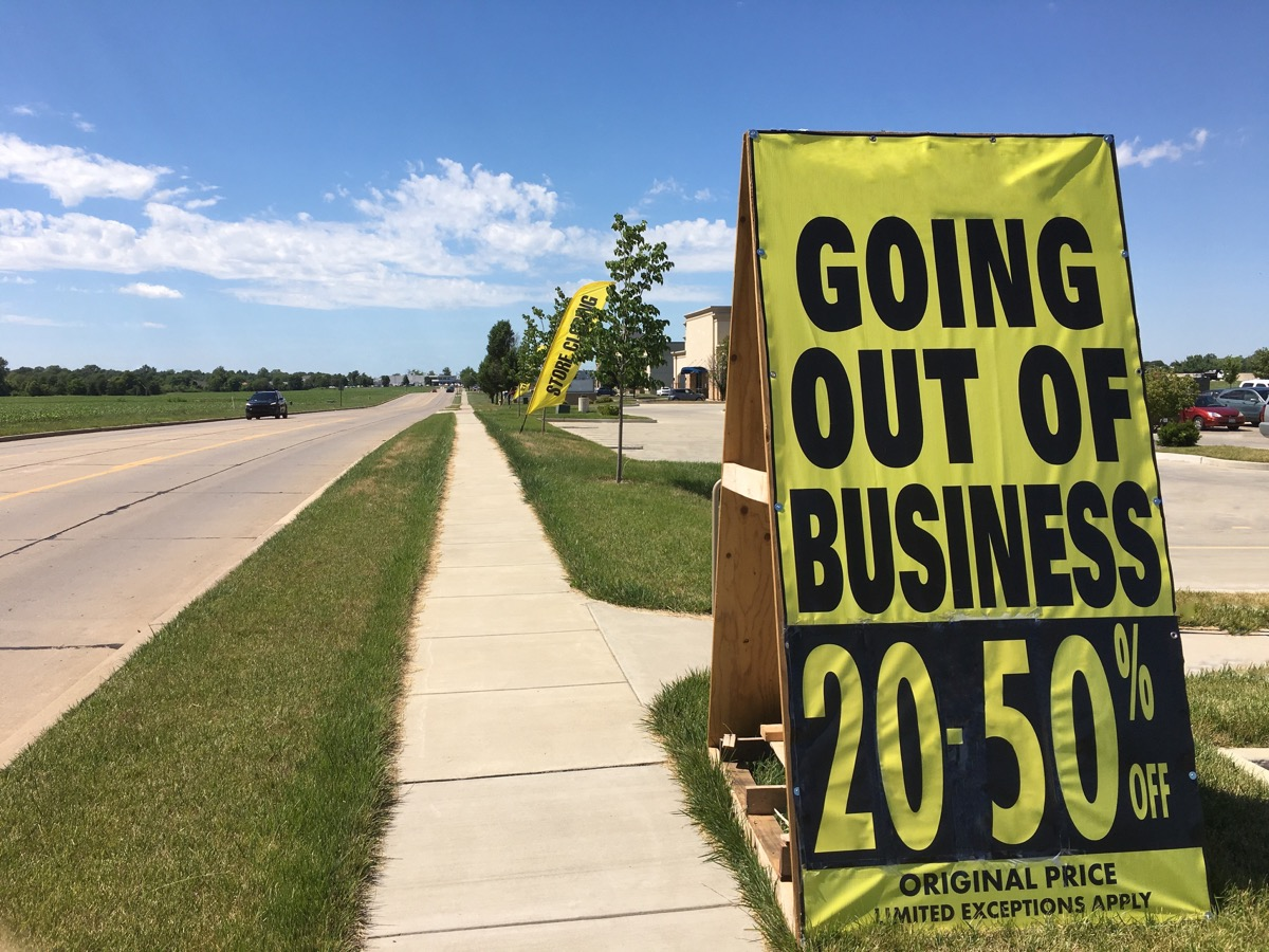 Store Holding a Going out of Business Sale Overpopulation