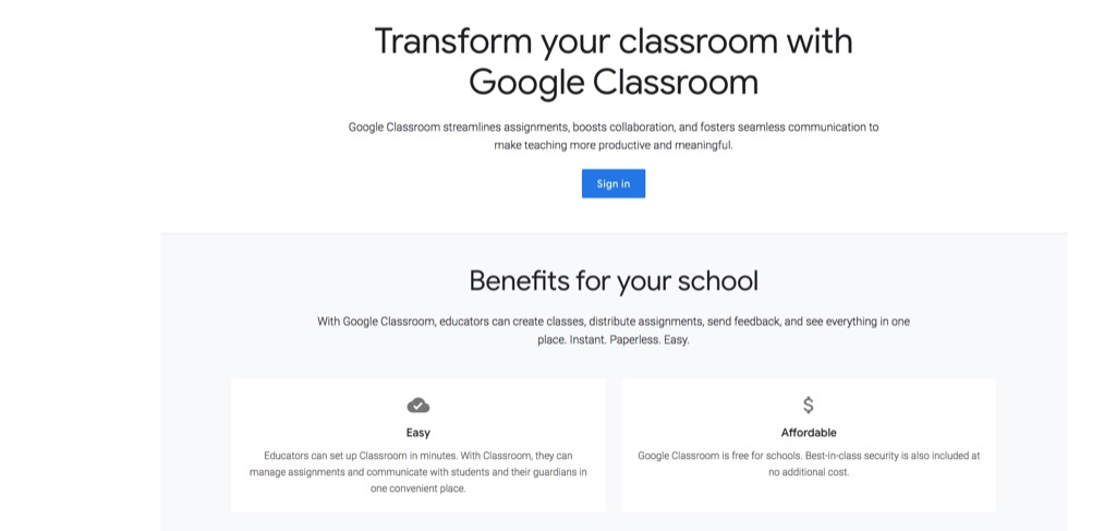 google classroom website most popular web search in every state
