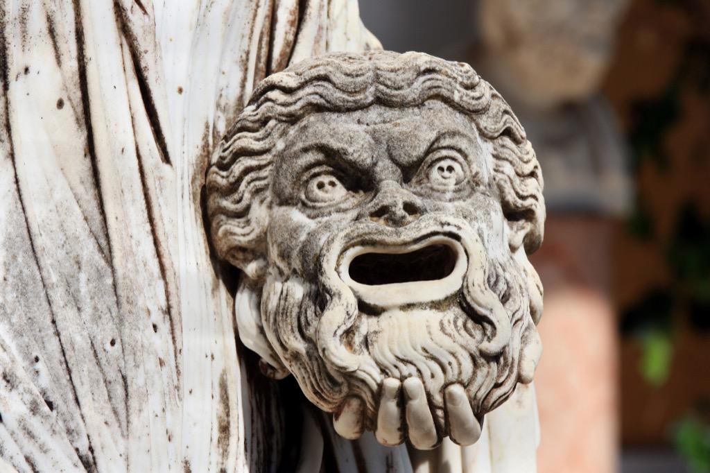 Greek tragedy sculpture