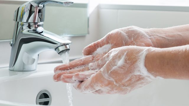 how to properly wash your hands.