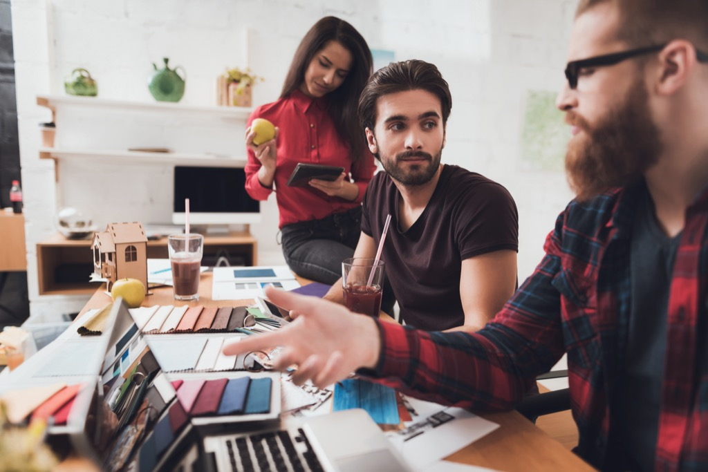 hipsters in an office