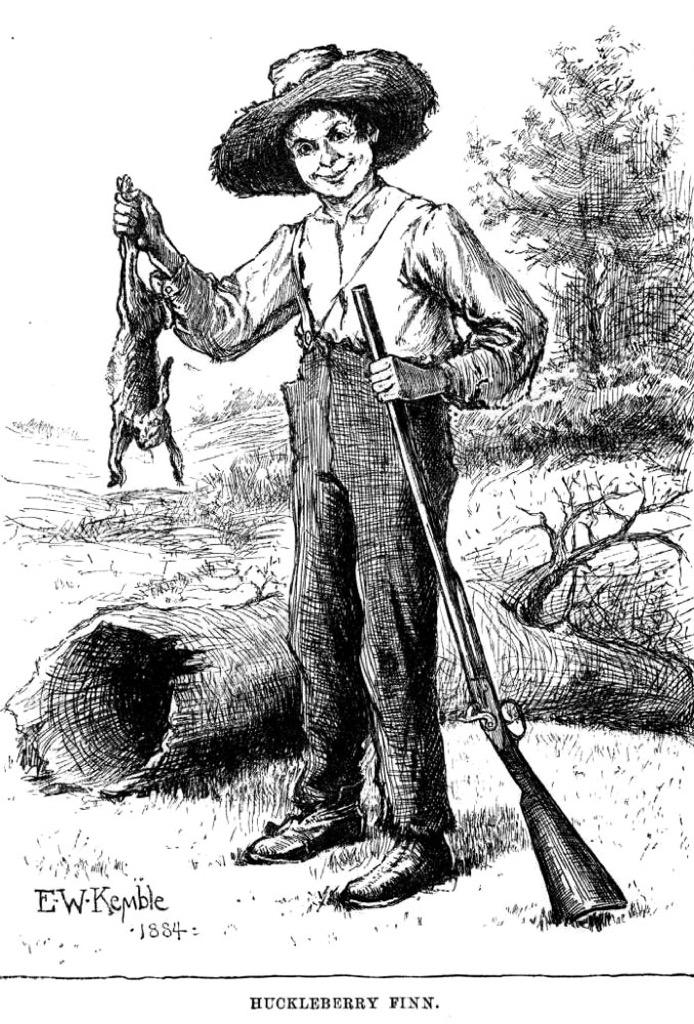 huckleberry finn the biggest folk hero every state