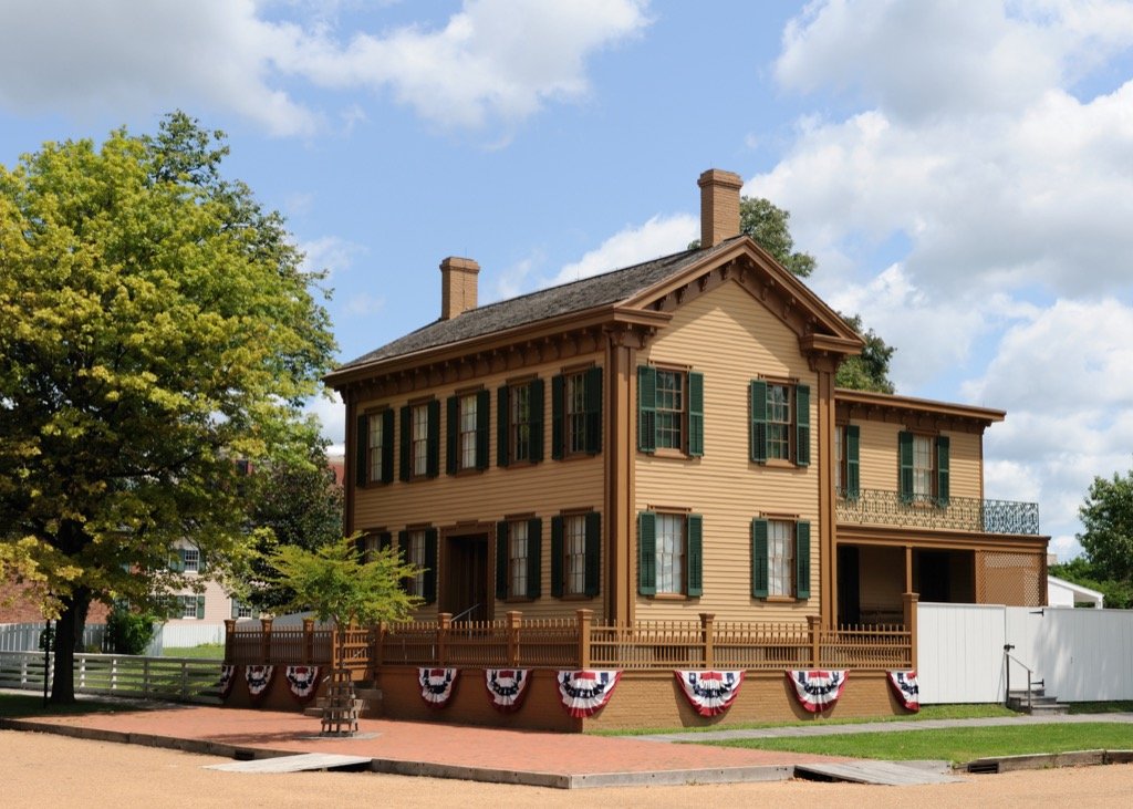 illinois abraham lincoln home most historic location every state