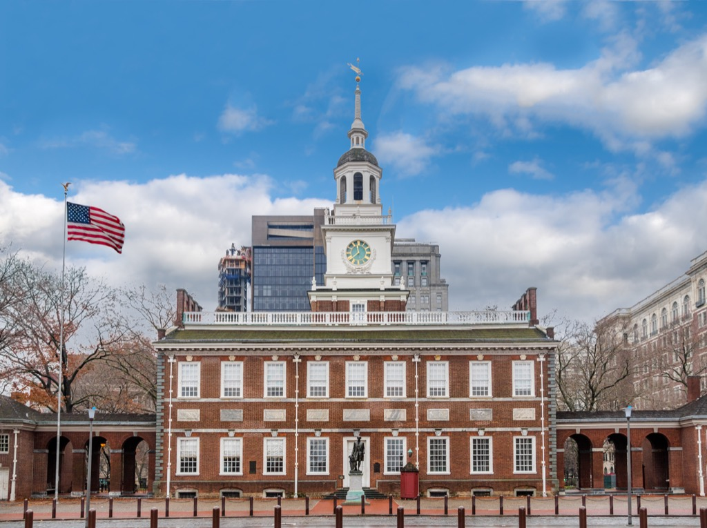 independence hall philadelphia most historic location every state