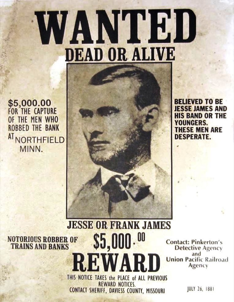 jesse james wanted poster the biggest folk hero every state